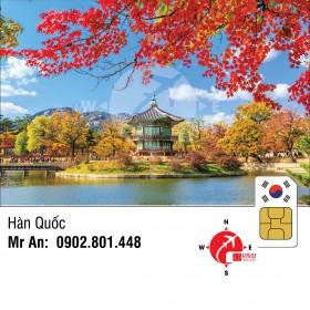 Sim du lịch Hàn Quốc không giới hạn 5 ngày