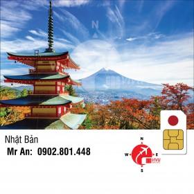 Sim du lịch Nhật Bản không giới hạn 5 ngày